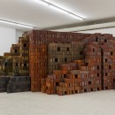 Elisabetta Benassi |  Zeitnot | 2017 |  Five thousand English firebricks |  175 x 500 x 380 cm |  Installation view at Collezione Maramotti |  Ph. Andrea Rossetti