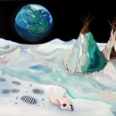 Domenico Mangano | Moon landing | 2007, oil on canvas, 154x102 cm
