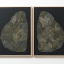 Arina Endo Pianta Psichica, 2015 Dried leaves on paper 2 elementes, 74 x 53,5 cm each