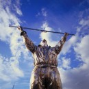 Jan Fabre The man who measures the clouds | 1998 Silicone bronze 285 x 120 x 80 cm, base 40 x 80 cm