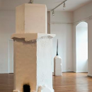 Jorge Peris Tamaris, 2012 Mixed media installation: salt, water, autoclaved cellular concrete, zinc, steel, coal, dimension variable Installation view at Musèe du Chateau des Ducs de Wutemberg, Montbeliard