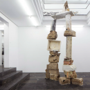 Jorge Peris | Dolmen, Parsifal | 2017 | Salt, limestone, brick, rope, cement and oranges | 350 x 200 x 100 cm | Exhibition: Involuntary Memory at Luis Adelantado, Valencia