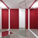 LLazzarini Pickering   Mobile Mobile   2018   Polished steel, lacquer panel, mirror glass   Variable Dimensions   Installation view at Magazzino   Room 1