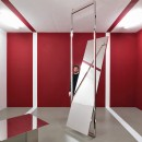 Lazzarini Pickering | Mobile Mobile | 2018 | Polished steel, lacquer panel, mirror glass | Variable Dimensions | Installation view at Magazzino | Room 1