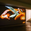 "Alessandro Piangiamore | Around an empty shell, 2014 HD projection, loop, length 06.44"" Exhibition view at Fondazione Merz, Turin"