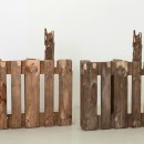 Vedovamazzei | Two Half Pallets, 2011 | Wood, glue, painted bronze | two elements, 99 x 79 x 15,5 cm each