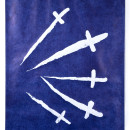 Jan Fabre Swords, Crosses and Daggers II 1989 Bic ballpoint pen on paper / Penna a sfera bic su carta 238 x 164 x 4,5 cm