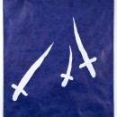 Jan Fabre Swords, Crosses and Daggers III 1989 Bic ballpoint pen on paper / Penna a sfera bic su carta 238 x 164 x 4,5 cm